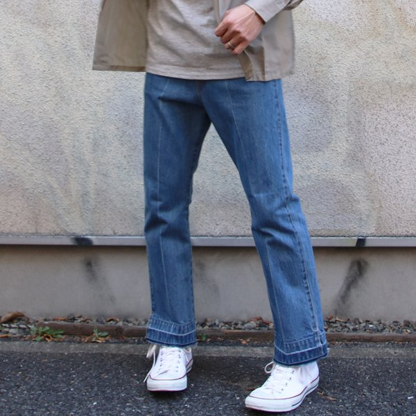 画像2: 赤耳(セルヴィッチ)デニムセンタープレス裾リペアアンクルパンツ『日本製』【送料無料】  / Upscape Audience
