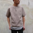 More photos1: ソフトリネンコットンキャンバス C/Nヘンリーコンチョ釦 5/Sシャツ【MADE IN JAPAN】『日本製』/ Upscape Audience