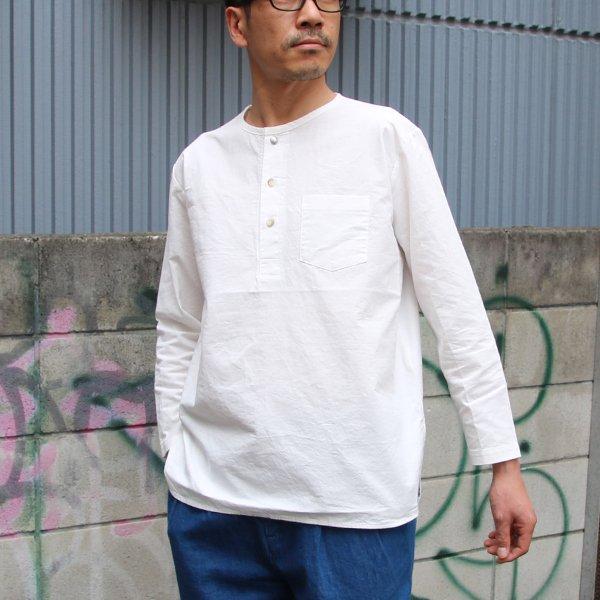 画像2: コットンクロス C/Nヘンリーコンチョ釦 9/S シャツ【MADE IN JAPAN】『日本製』 / Upscape Audience