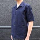 More photos2: コットンシアサッカーオープンカラーシャツJKT『日本製』/ Upscape Audience