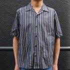 More photos1: シルクライク ブロードストライプ オープンカラーシャツJKT『日本製』/ Upscape Audience
