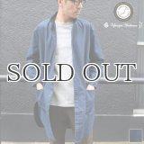 コットンミニヘリンボーン ポケ付 ローマシャツコート【MADE IN JAPAN】『日本製』/ Upscape Audience