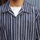More photos2: シルクライク ブロードストライプ オープンカラー ルーズフィットシャツ【MADE IN JAPAN】『日本製』/ Upscape Audience