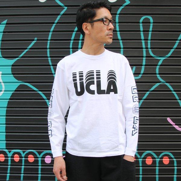 """画像2: オールドプリント""""UCLA-SLIDE""""米綿長袖TEE/ Audience"""