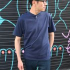 More photos2: コーマ天竺 コンチョボタンヘンリーTEE【MADE IN JAPAN】『日本製』/ Upscape Audience