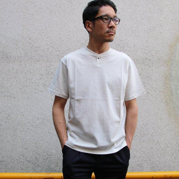 画像2: コーマ天竺 コンチョボタンヘンリーTEE【MADE IN JAPAN】『日本製』/ Upscape Audience