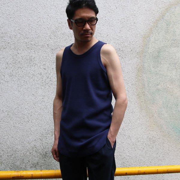 画像2: 度詰ワッフル  ロングタンクトップ【MADE IN JAPAN】『日本製』/ Upscape Audience