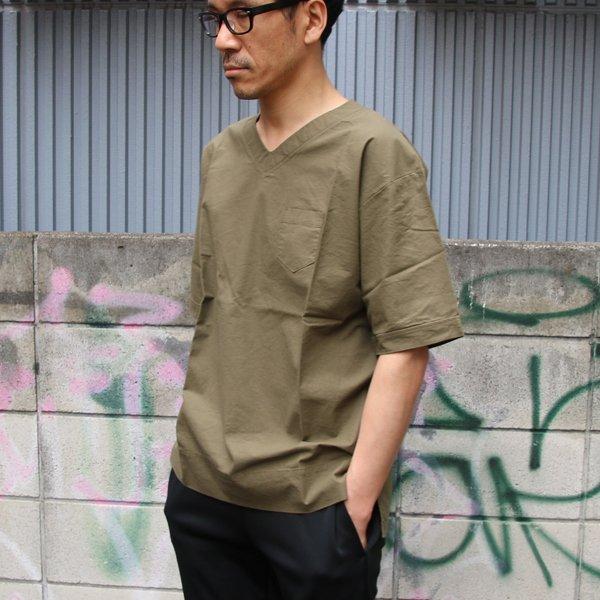画像2: コットンクロス V/N ポケ付 5/S シャツ【MADE IN JAPAN】『日本製』 / Upscape Audience