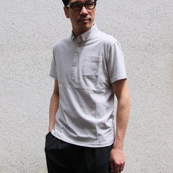 画像2: コーマ天竺 チビ衿ボタンダウン グラスポケット付 ポロシャツ【MADE IN JAPAN】『日本製』/ Upscape Audience