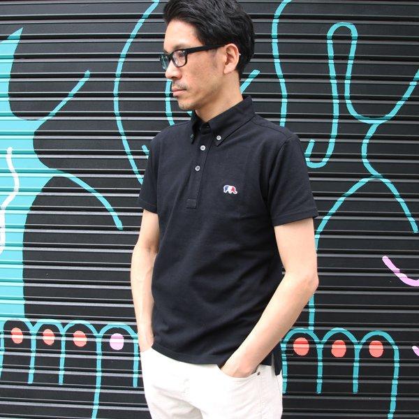 画像2: 鹿の子3色ゾウ刺繍ワンポイントボタンダウンカラー半袖ポロシャツ【MADE IN JAPAN】『日本製』/ Upscape Audience