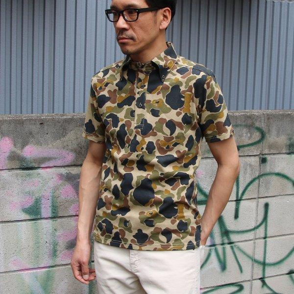 画像2: 【RE PRICE / 価格改定】ダックカモプリント天竺ボタンダウンカラーポロシャツ【MADE IN JAPAN】『日本製』/ Upscape Audience