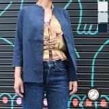 コットンリネンキャンバスマオカラークォータースリーブジャケット [Lady's] 【MADE IN JAPAN】『日本製』【送料無料】/ Upscape Audience