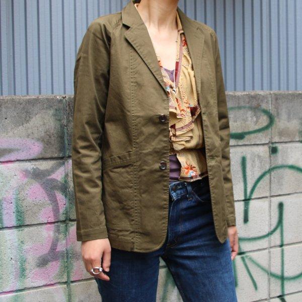 画像2: コットンリネンストレッチ2Bクラークジャケット[Lady's] 『日本製』【送料無料】  / Upscape Audience