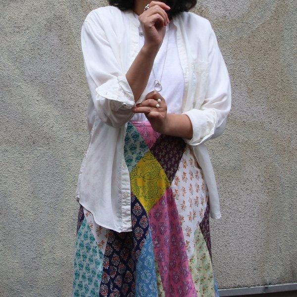 画像2: Vネックバンドカラーテンセル長袖_Shirts[Lady's] 【MADE IN JAPAN】『日本製』/ Upscape Audience