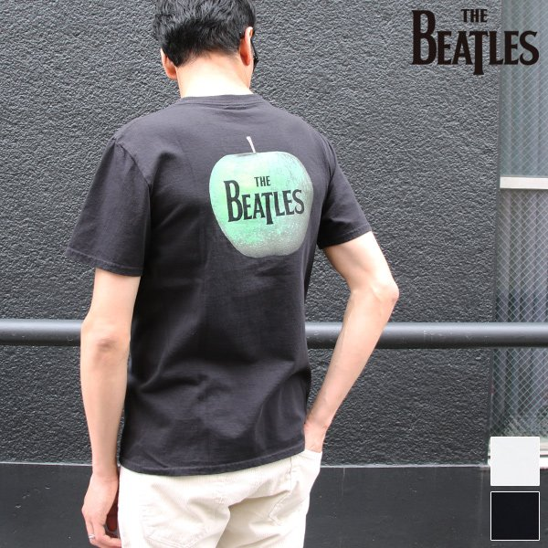 画像1: BEATLES ロゴプリントUSAファブリック丸胴国産ポケットTEE【FABRIC MADE IN USA】【ASSEMBLED IN JAPAN】『日本製』/ Upscape Audience