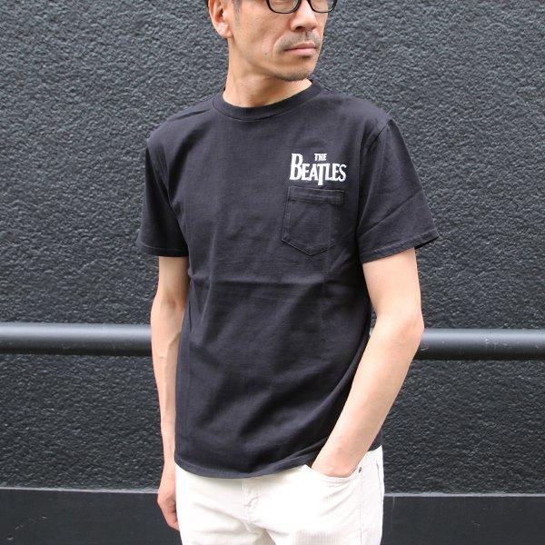 画像2: BEATLES ロゴ刺繍USAファブリック丸胴国産ポケットTEE【FABRIC MADE IN USA】【ASSEMBLED IN JAPAN】『日本製』/ Upscape Audience