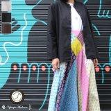 綿麻キャンバスマオカラー9分袖ライト_jacket【MADE IN JAPAN】『日本製』/ Upscape Audience