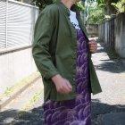 More photos2: コットンギャバジンスタンドスモールカラー9分袖 ライト_Jacket【MADE IN JAPAN】『日本製』/ Upscape Audience