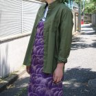 More photos1: コットンギャバジンスタンドスモールカラー9分袖 ライト_Jacket【MADE IN JAPAN】『日本製』/ Upscape Audience