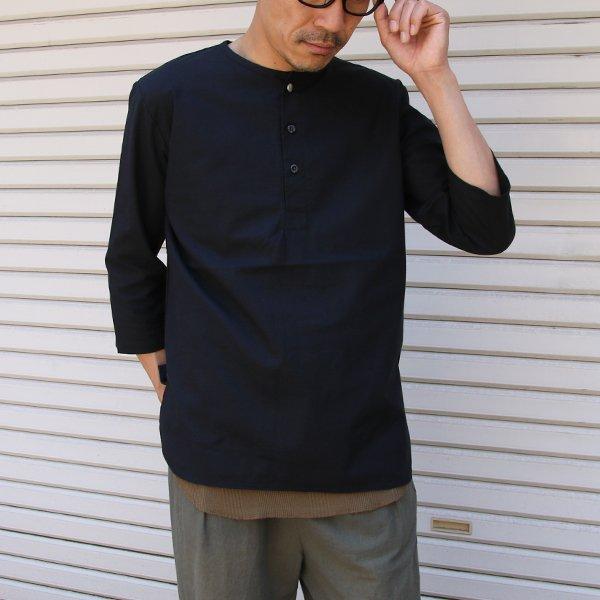 画像2: コットンクロス C/Nヘンリー コンチョ釦 7/S シャツ【MADE IN JAPAN】『日本製』 / Upscape Audience
