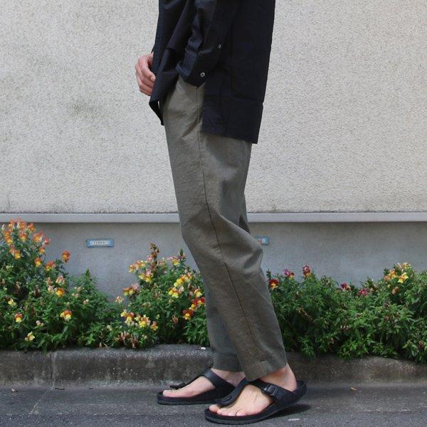 画像2: ソフトリネンキャンバスワイド イージータックアンクルパンツ【MADE IN JAPAN】『日本製』【送料無料】/ Upscape Audience