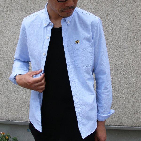 画像2: チビ衿ボタンダウン UCLA クマ刺繍付 シャンブレーオックスL/Sシャツ『日本製』Upscape Audience