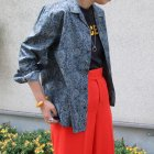 More photos3: サラサ柄コットンクロス オープンカラーL/Sシャツ【MADE IN JAPAN】『日本製』/ Upscape Audience