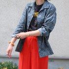 More photos1: サラサ柄コットンクロス オープンカラーL/Sシャツ【MADE IN JAPAN】『日本製』/ Upscape Audience