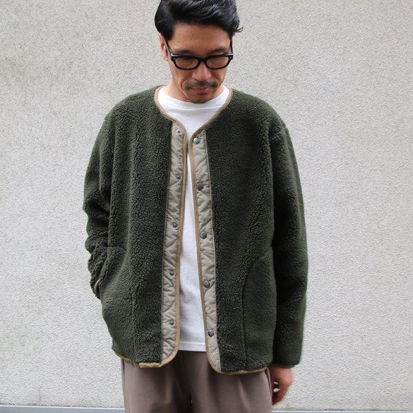 画像2: 【イタリアンファブリック】トスカーナボア スナップジャケット【MADE IN JAPAN】『日本製』【送料無料】/ Upscape Audience【ご予約商品・11月上旬入荷予定】