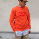 More photos1: Riding High / フロッキープリントCrew Sweat L/S(R193-0306)【MADE IN JAPAN】【送料無料】