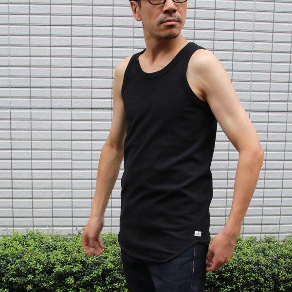 画像2: 16/1吊編天竺 丸胴ロングタンクトップ【MADE IN TOKYO】『東京製』/ Upscape Audience