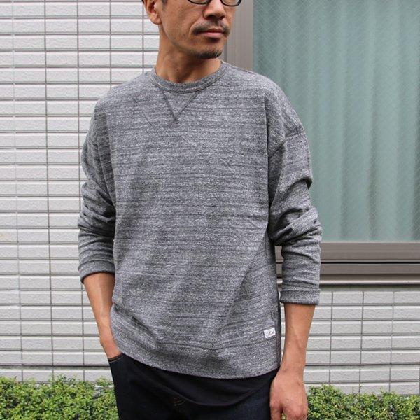 画像2: 吊り編み天竺ガゼットクルーネック スウェットビッグ長袖Tee【MADE IN TOKYO】『東京製』/ Upscape Audience