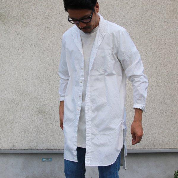 画像2: 100/2コーマブロード スモールスタンドカラー ローマシャツコート【MADE IN JAPAN】『日本製』/ Upscape Audience