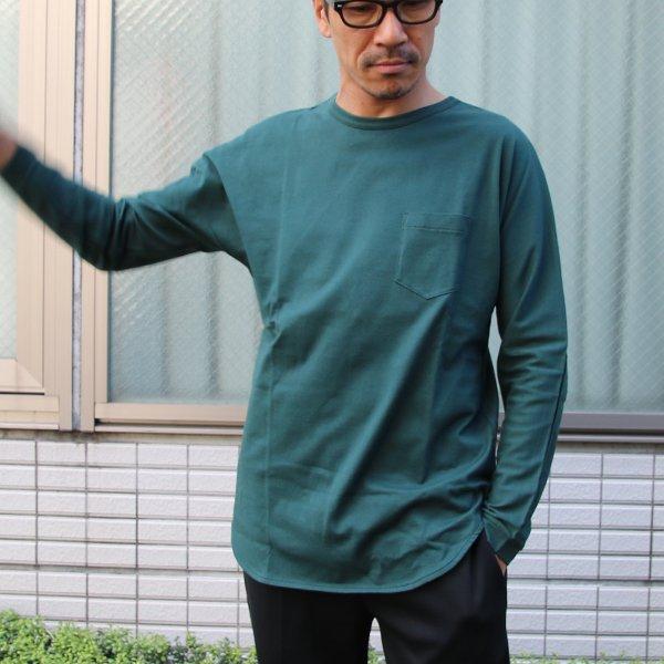 画像2: コーマ天竺クルーネックポケット付き長袖Tee【MADE IN JAPAN】『日本製』/ Upscape Audience