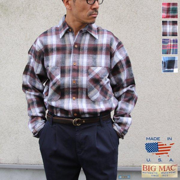 画像1: BIGMAC (ビッグマック) フランネルチェックシャツ【MADE IN U.S.A】『米国製』/ デッドストック