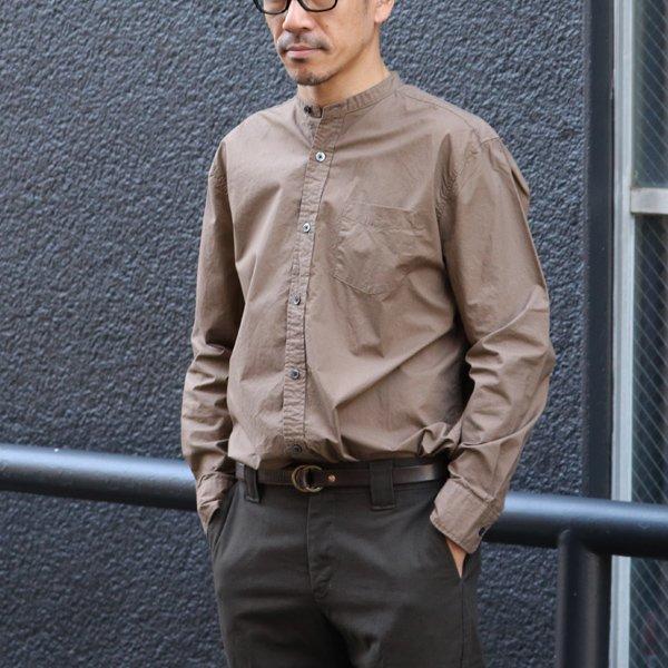 画像2: タイプライターバンドカラーオーバーサイズL/Sシャツ【MADE IN JAPAN】『日本製』/ Upscape Audience