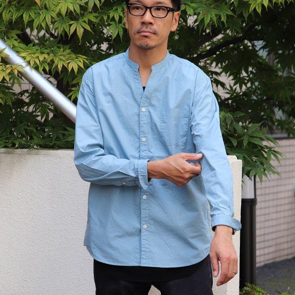 画像2: タイプライターVネックバンドカラー長袖_Shirts【MADE IN JAPAN】『日本製』/ Upscape Audience
