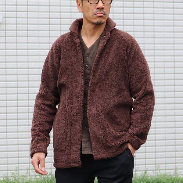 画像2: ソフトタッチ ボアフリース ショールカラー スナップジャケット【MADE IN JAPAN】『日本製』/ Upscape Audience