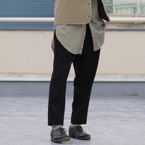 画像2: ギャバジンストレッチワイド2タック グルカイージー アンクルパンツ【MADE IN JAPAN】『日本製』【送料無料】/ Upscape Audience