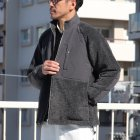 More photos3: 【イタリアンファブリック】トスカーナボア ラグラン スタンドZIP ジャケット【MADE IN JAPAN】『日本製』【送料無料】/ Upscape Audience