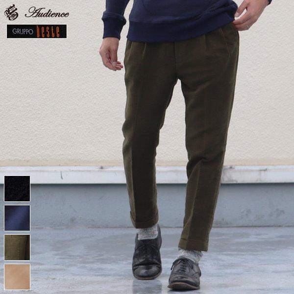 画像1: イタリアBESTE社 モールスキン 2タックアンクルパンツ【送料無料】 / Audience