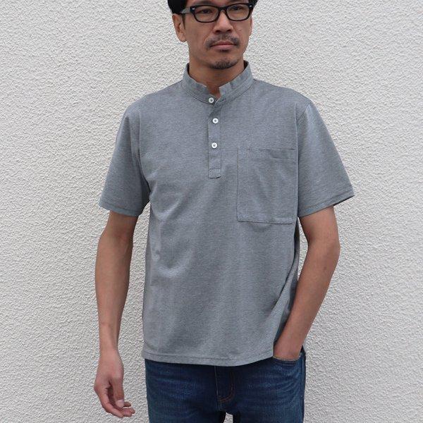画像2: Sorbtekカノコ スモールスタンドカラー Bigポケット ポロシャツ【MADE IN JAPAN】『日本製』/ Upscape Audience【ご予約・2020年4月上旬入荷予定】