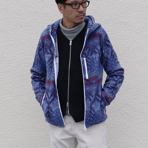 画像2: 【RE PRICE / 価格改定】アクリル裏毛ノースフォレスト起毛フードジャケット【MADE IN JAPAN】『日本製』/ Upscape Audience