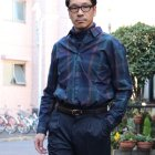 More photos1: タイプライター 大判チェック ルーズFIT 裏前立 レギュラーカラー L/Sシャツ【MADE IN JAPAN】『日本製』/ Upscape Audience