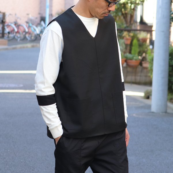 画像2: ギャバジンストレッチ ラボベスト【MADE IN JAPAN】 『日本製』  / Upscape Audience