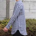 More photos1: French Linen(フレンチリネン)ルーズFIT バンドカラー 長袖シャツ【MADE IN JAPAN】『日本製』/ Upscape Audience