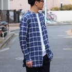 More photos3: French Linen(フレンチリネン)ルーズFIT バンドカラー 長袖シャツ【MADE IN JAPAN】『日本製』/ Upscape Audience