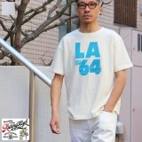 Riding High / 12/-JERSEY FLOCKY PRINT S/S TEE (LA64)【MADE IN JAPAN】『日本製』