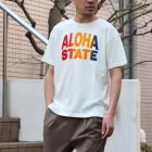 More photos3: Riding High / 12/-JERSEY FLOCKY PRINT S/S TEE (ALOHA)【MADE IN JAPAN】『日本製』