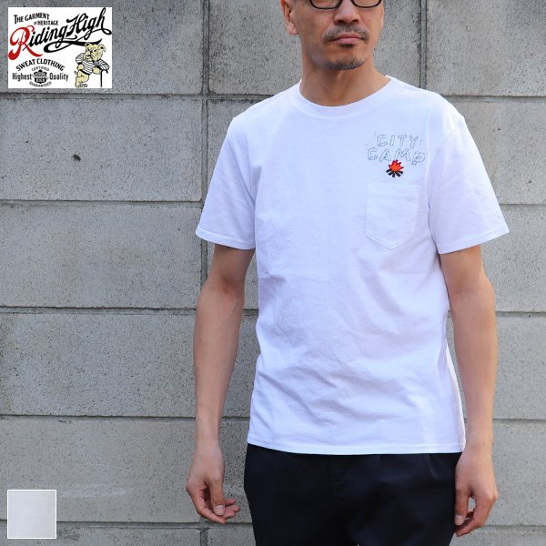 画像1:  Riding High / 18/-JERSEY P&E POCKET TEE(CITY CAMP)【MADE IN JAPAN】『日本製』